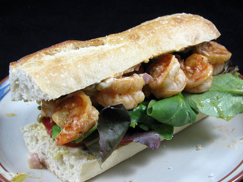 Grilled Shrimp Po Boys