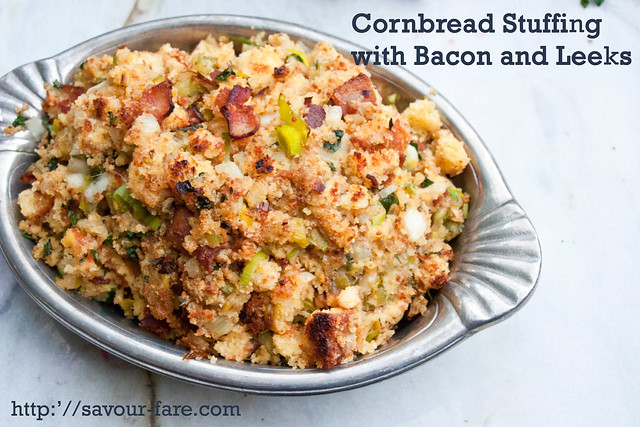 Crockpot Cornbread Stuffing with Bacon And Leeks #Thanksgiving ...