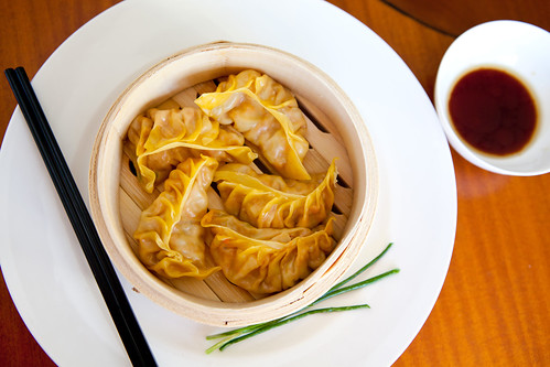 A variation of homemade har gao (蝦餃)