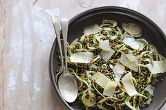 lentil & shaved fennel salad