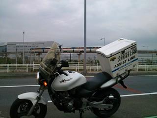 東京モノレールとバイク便