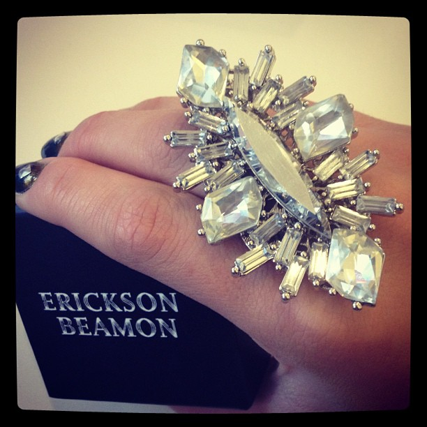 Not going to lie, I'm pretty stoked about this @erickaonbeamon ring that arrived today! #inthemail #sparkle #bling #swarovski #ericksonbeamon #poshstyled #poshmark