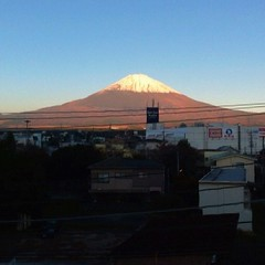 Fujisan from business hotel room in Gotemba. 6:35am