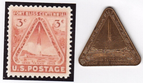 Fort Bliss stamp and medal