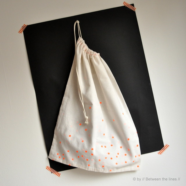 Fluo linen bag :: a DIY