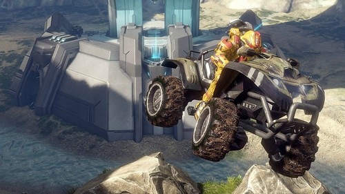 HALO 4 RAGNAROK AND THE MANTIS TRAILER .  The map Valhalla returns as Ragnarok in Halo 4 along with a new vehicle, the Mantis