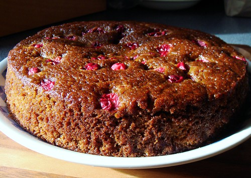 Gingerbread Cake with Cranberries