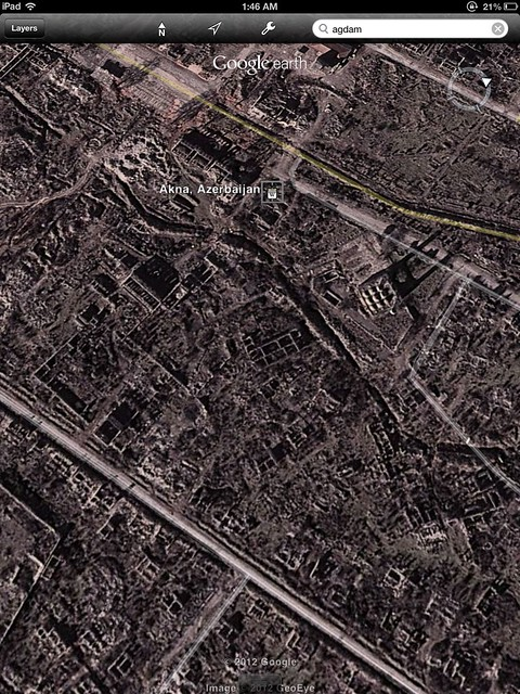 Google Earth View of Agdam