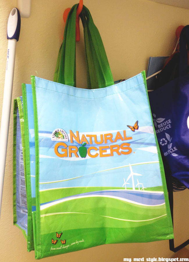 Reuseable natural grocers bags