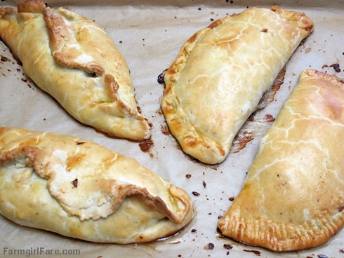 Two different ways to shape English Cornish pasties - FarmgirlFare.com