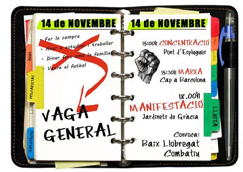 #14N 2012 Baix Llobregat combatiu
