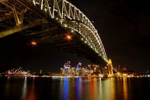 lights sydney australia australien harbourbridge milsonspoint