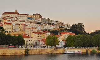 Coimbra With Moon Rising