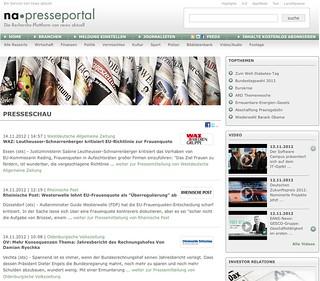 Vorabs und Kommentare unter presseportal.de