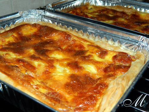 Torta salata di prosciutto e mozzarella