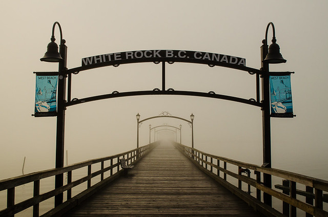 White Rock Pier in the Fog