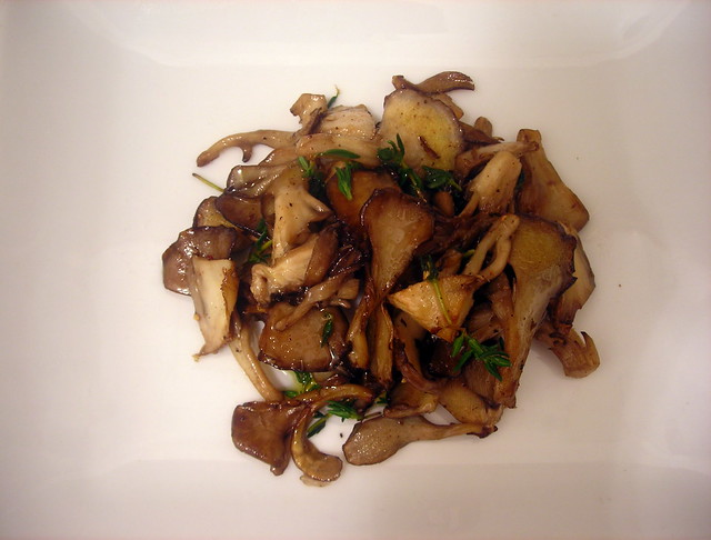 Pan-roasted hen of the woods mushrooms