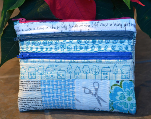 Triple Zipper Scrappy Pouch