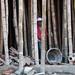 Stavba a bambusové lešení - podpěry