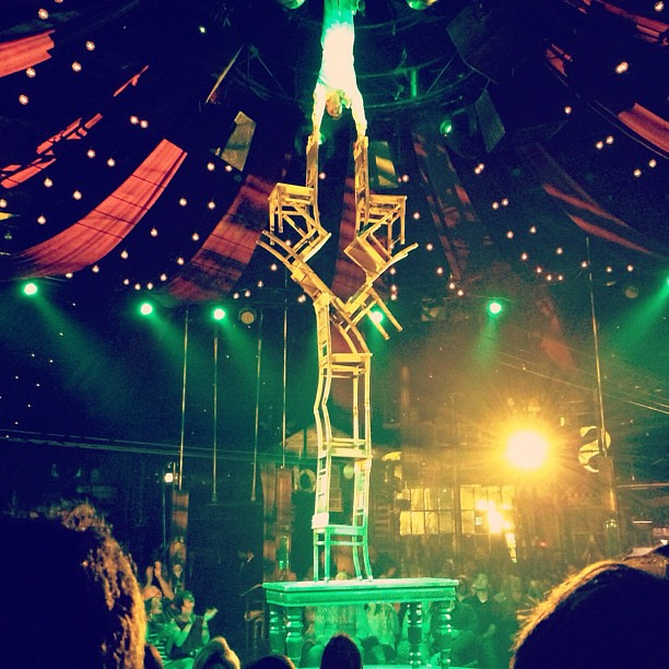 Remembering the Absinthe show in Vegas, this guy was crazy