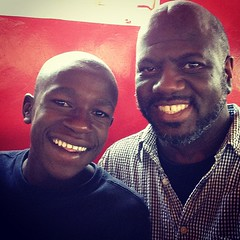 Meet Elijah -- a gifted Kenyan who played piano and soccer with me. #KenyaRelief2012
