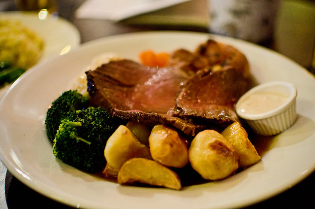 a sunday roast at the Richard Steele Pub