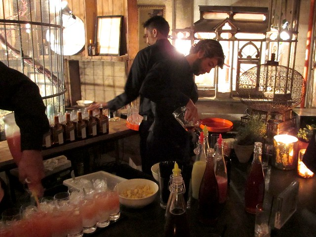 Preparing Cointreau cocktails.