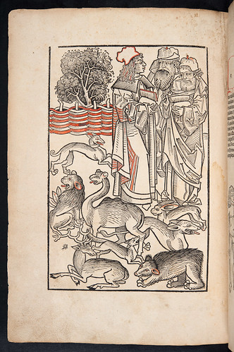 Full page woodcut in Hortus sanitatis by University of Glasgow Library