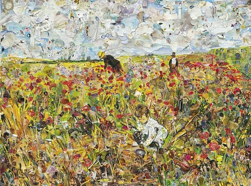 Vik Muniz, Picking Flowers in a Field, after Mary Cassatt, 2012