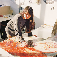 Student at work in the British Higher School of Art and Design in Moscow