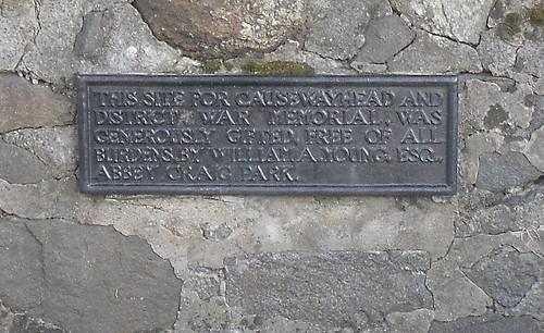 Causewayhead War Memorial,Stirling