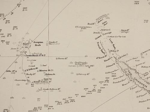 Pacific Ocean. G9230-1908. Sandy Island.
