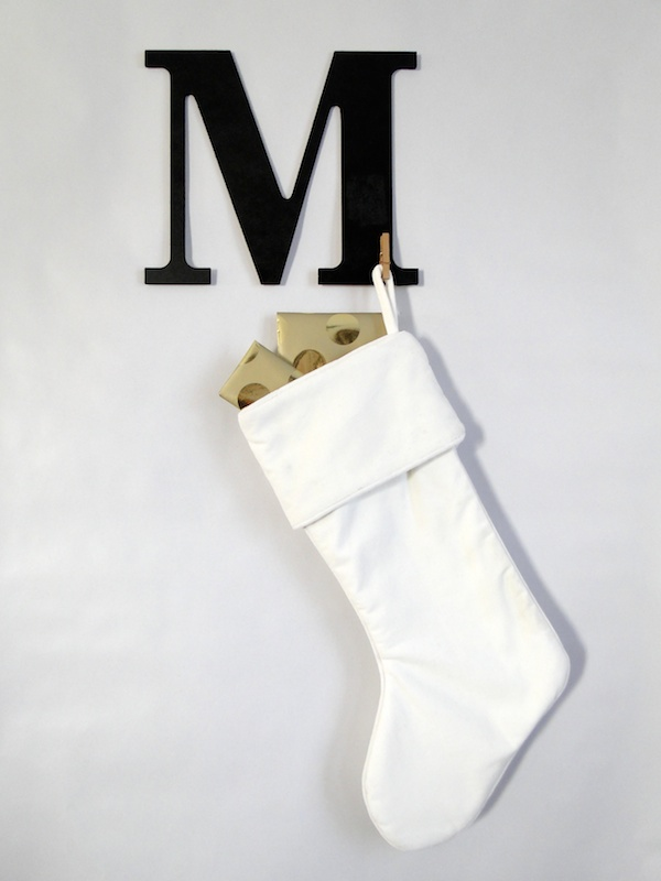 Modern Xmas Monogram Stocking Hanger Tutorial 036