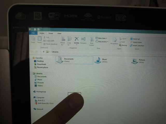 Windows 8 Explorer Touch