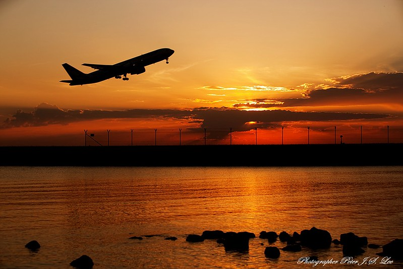 Sydney Airport sunset