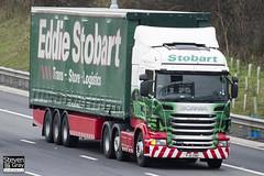 Scania R440 6x2 Tractor - PJ11 ZNU - Marilyn Ann - Green & Red - 2011 - Eddie Stobart - M1 J10 Luton - Steven Gray - IMG_0169