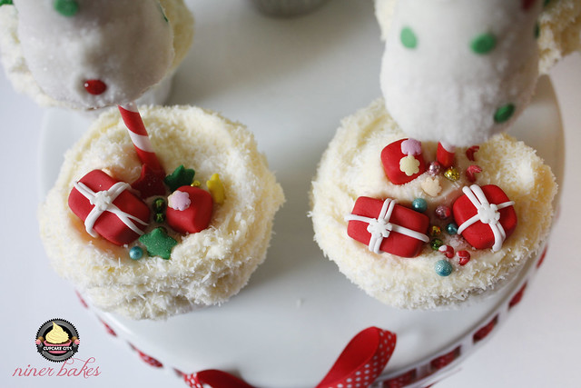 Christmas Winter Wonderland treats - Cupcakes + How to make christmas tree cupcakes