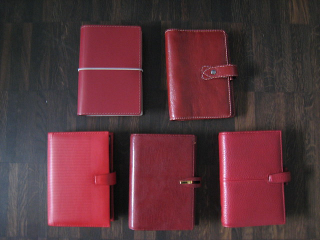 Filofax Colours (8): Red