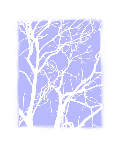Ambergate tree on pale blue