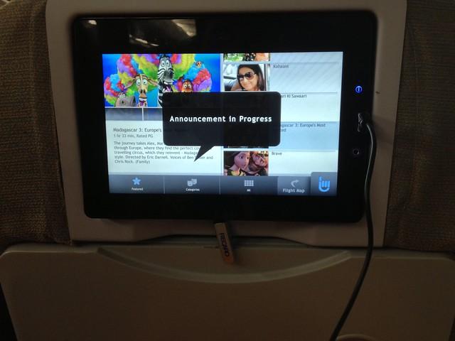Nouvel écran personnel sur SriLankan Airlines