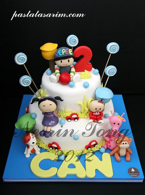CAN 2ND BIRTHDAY CAKE - PEPEE (Medium)