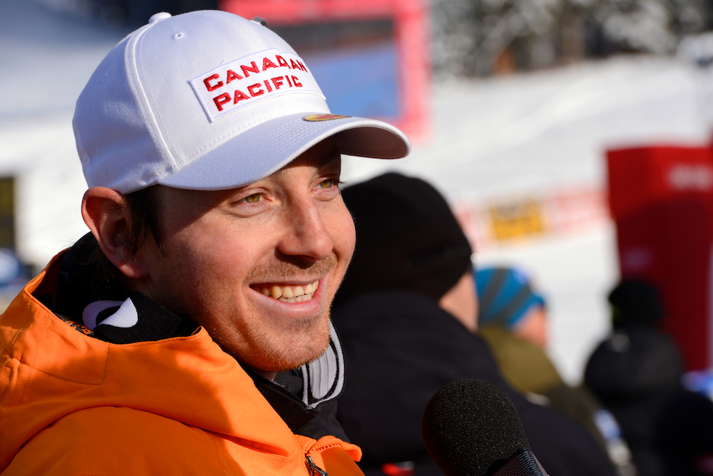 John Kucera after World Cup super-G in Lake Louise.