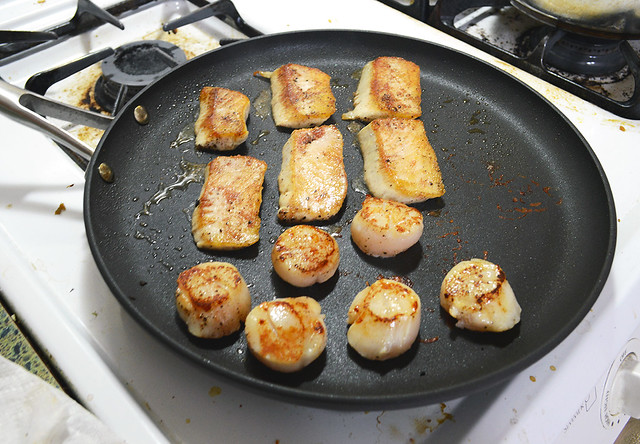 Grilled Tuna and Scallops