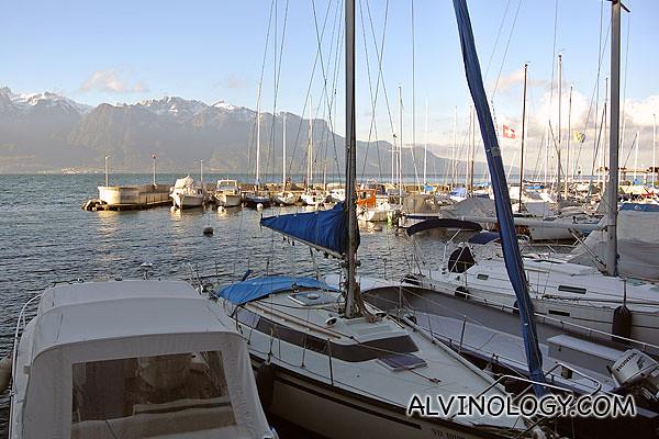 Lake Geneva and the Swiss Alps