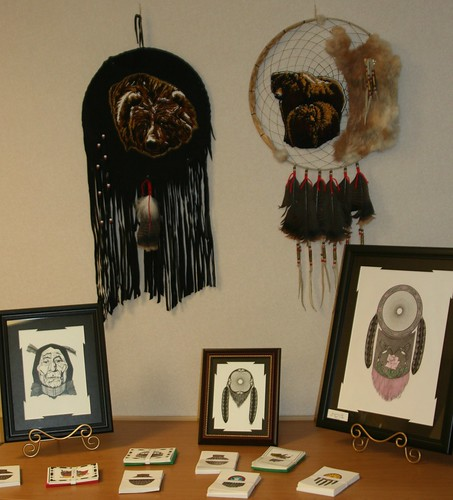 Native American items on display for Native American Heritage Month in South Dakota.