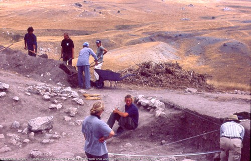 Gavurkalesi, Turkey.   Students draw in re-excavated von der Osten trench.