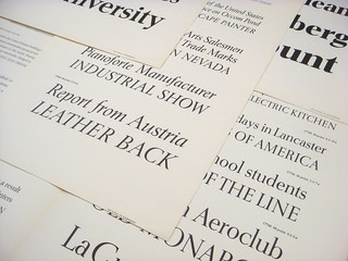 Horizon type specimen sheets