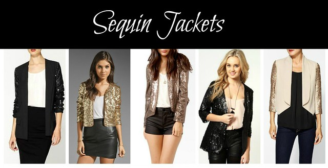 sequin jackets collage