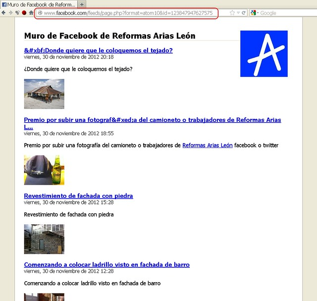 Tutorial feed rss facebook