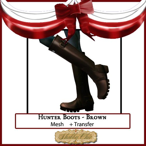 Shabby Chic Brown Hunter Boots by Shabby Chics